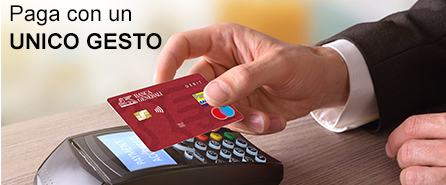 Carta di debito e-commerce contactless